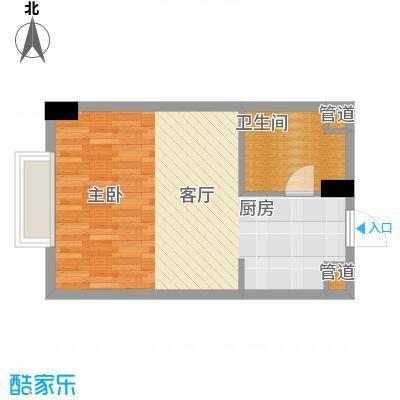 长庚老年公寓二期万华42.98㎡B户型-1室1厅1卫户型