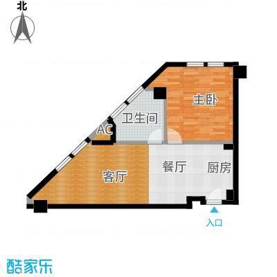 恒通商厦73.66㎡B户型