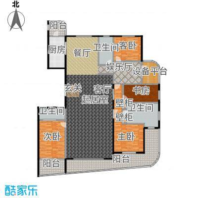 兴龙 香玺海326.00㎡3号楼A户型4室3厅3卫户型4室3厅3卫