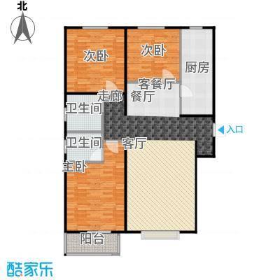 香溪雅地117.47㎡B1户型三室两厅两卫户型3室2厅2卫