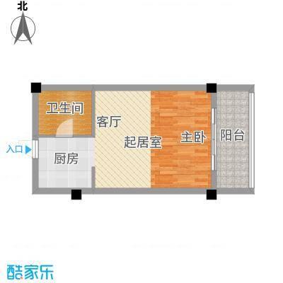 徽州庄园46.22㎡A1、A2户型图 豪华单套间 46.22平米户型1室1厅1卫