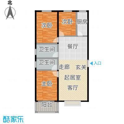 浩正�林湾137.87㎡三室两厅两卫户型3室2厅2卫