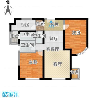 金地紫云庭110.00㎡CB2Q2户型2室2厅2卫