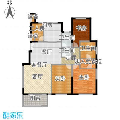 金地紫云庭168.90㎡DS-B1反洋房户型3室2厅2卫