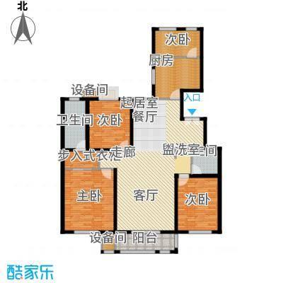 百合小筑160.32㎡四室两厅两卫160.32平米D户型4室2厅2卫