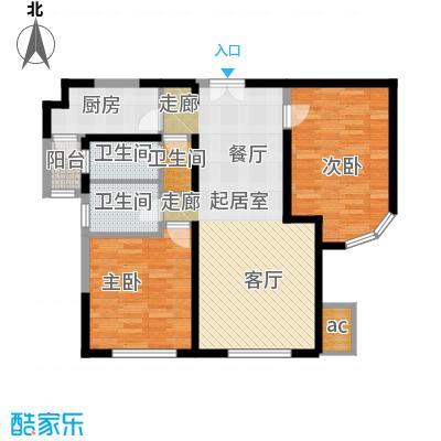 金地紫云庭110.00㎡12、14号楼CB2Q2户型2室2厅2卫