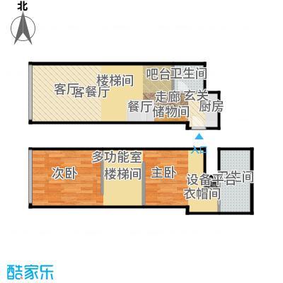 TOUCH悦城63.00㎡Q户型设计2户型2室2厅2卫