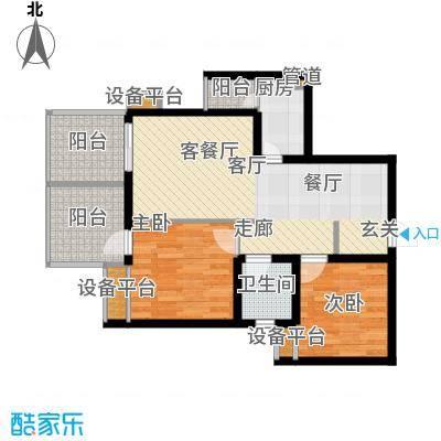 鑫沙时代未命名户型2室1厅1卫1厨