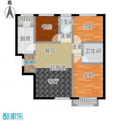 源盛嘉禾93.00㎡高层G-4户型3室2厅2卫