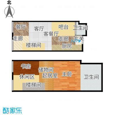 TOUCH悦城56.00㎡J户型设计2户型2室2厅2卫