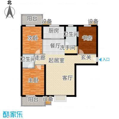 金沃向阳城134.90㎡C1户型三室两厅两卫户型3室2厅2卫