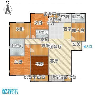 华中国宅华园249.30㎡F-1-华屋青庭-五室二厅三卫户型5室2厅3卫