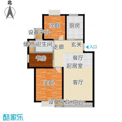 耀城广场三室二厅-130平方米-200套户型