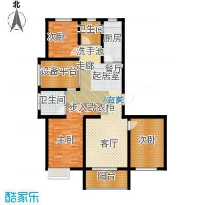 滨江国际120.61㎡K户型3室2厅2卫