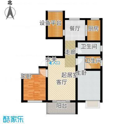 滨江国际104.60㎡L2户型2室2厅2卫