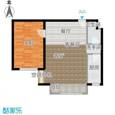 鑫和银座78.52㎡78.52户型一居室户型1室1厅1卫