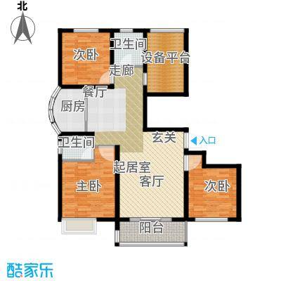 滨江国际113.59㎡M3户型2室2厅1卫
