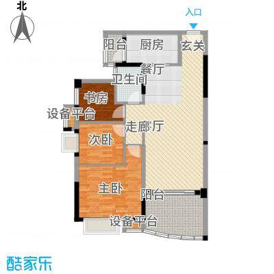 碧桂园温泉城J355C户型3室2厅1卫