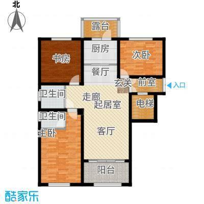 状元府邸110.00㎡110型F2户型3室2厅2卫