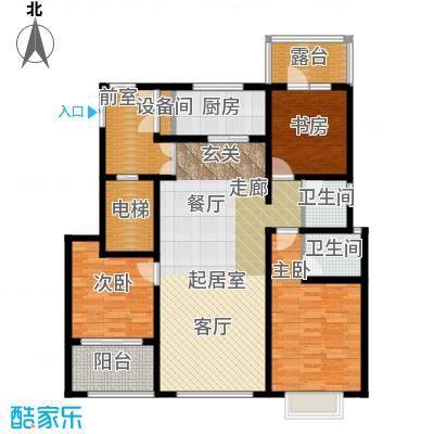 状元府邸120.00㎡120型H户型3室2厅2卫