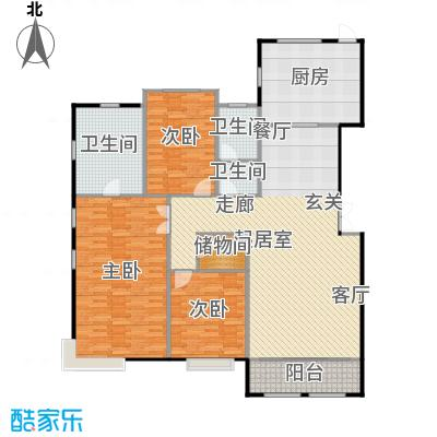 融侨观邸8号楼首层户型3室2厅2卫