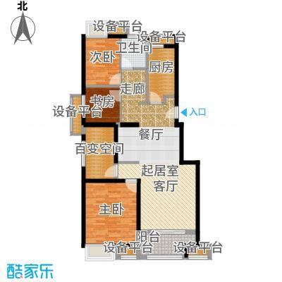 万科VC小镇93.00㎡小高层3+1室户型4室2厅1卫