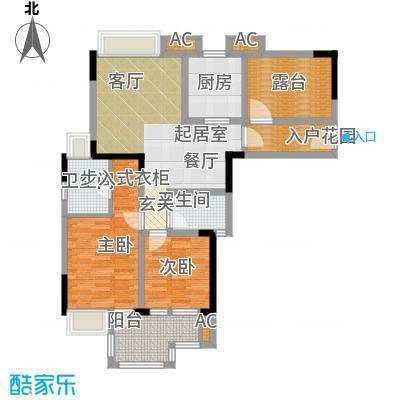 德阳希望城90.88㎡F户型两室两厅双卫90.88户型2室2厅2卫