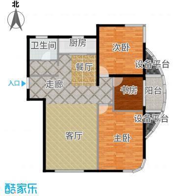 君豪绿园117.00㎡户型3户型3室2厅1卫