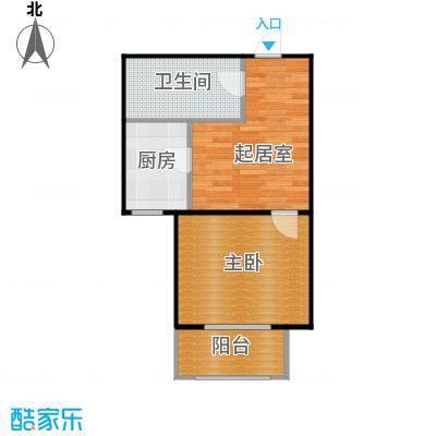 侯河铭品尚江南49.57㎡1、7、8号楼B1户型一室一厅一卫户型1室1厅1卫