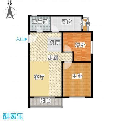 滨海新城C户型2室2厅