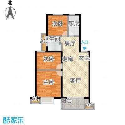 伟星玲珑湾89.00㎡B户型3室2厅1卫户型3室2厅1卫LL