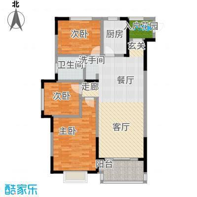 伟星玲珑湾90.00㎡D2户型(高层) 3室2厅1卫户型3室2厅1卫