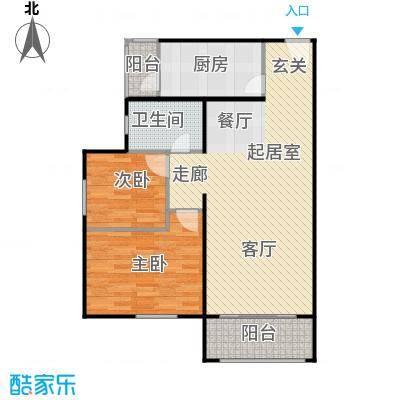 龙河雅居94.82㎡C3户型 94.82平米户型2室1厅1卫