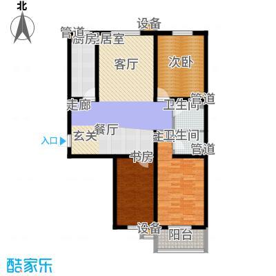 盛世春天三室两厅两卫10#11#C户型图户型3室2厅2卫