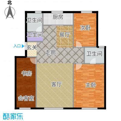 君豪绿园127.00㎡户型4户型3室2厅2卫