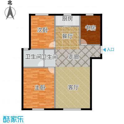 君豪绿园108.00㎡户型2户型3室2厅1卫