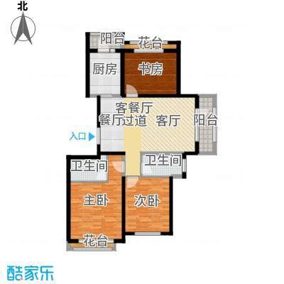 地恒托斯卡纳84.35㎡项目二期户型3室1厅2卫