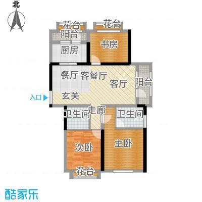地恒托斯卡纳78.48㎡项目二期户型3室1厅2卫