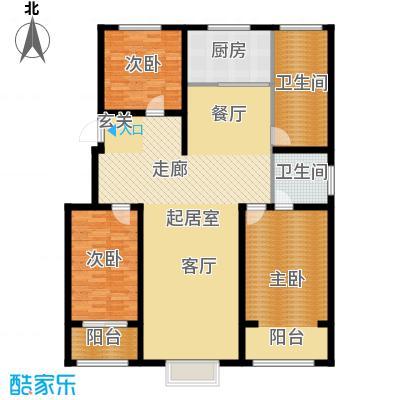 丽景华庭B3户型三室两厅两卫165.96、152.01、147.66平米户型3室2厅2卫