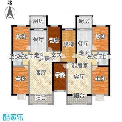金坤新城花苑B户型-三房二厅一卫-100.62平方米户型3室2厅1卫