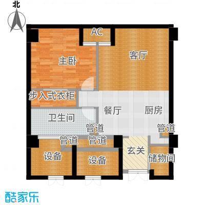 中城国际广场88.00㎡A10户型1室1厅1卫