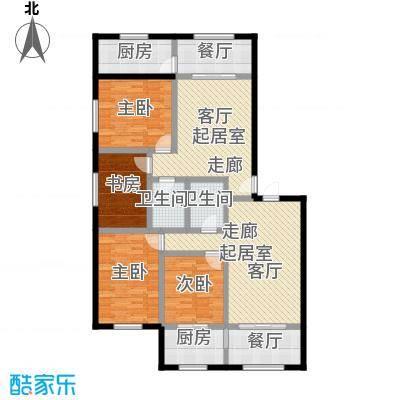 金坤新城花苑户型4室2厅2卫2厨