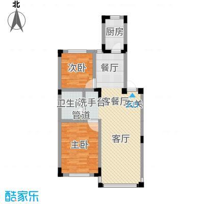 渤海玉园84.95㎡F户型2室2厅1卫