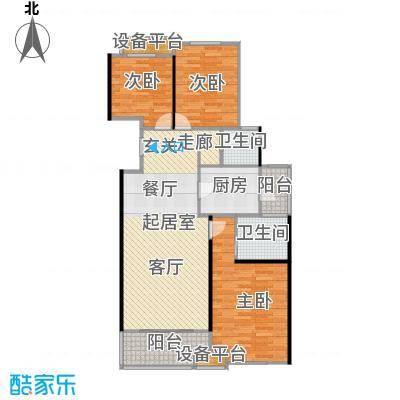 高科麓湾国际社区105平米三室二厅二卫户型