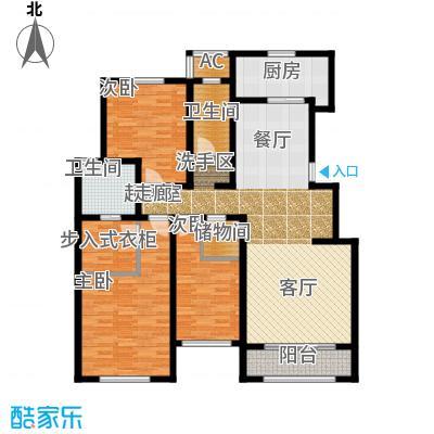 华厦津典三期川水园164.16㎡F2户型3室2厅2卫
