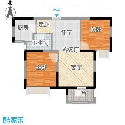 荣盛莉湖春晓77.94㎡E2户型2室1厅1卫1厨