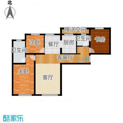 君豪御园116.69㎡C户型3室2厅2卫