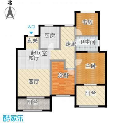 金地湖城艺境103.00㎡洋房5层E户型3室1卫1厨