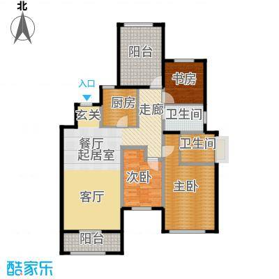 金地湖城艺境118.00㎡洋房三层C户型3室2卫1厨