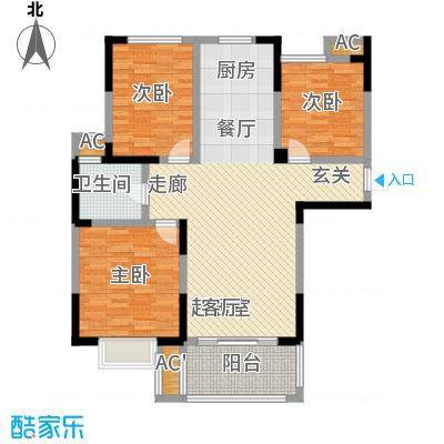 三金燕语庭104.00㎡D4户型3室2厅1卫